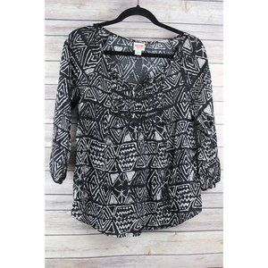 MOSSIMO 3/4 SLEEVED PEASANT INSPIRED TOP S/P